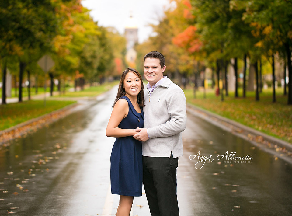 { Engaged } Heather and Josh    Indianapolis Engagement Photography, Notre Dame Engagement Photography | http://www.AnyaAlbonetti.com